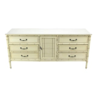 Mid Century Faux Bamboo Dresser For Sale