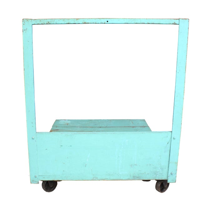Turquoise Industrial Cart - Image 2 of 2