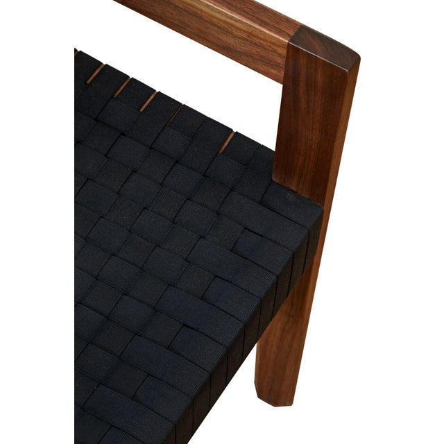 Modern Casey McCafferty Faceted Dining Chair- Floor Sample For Sale - Image 4 of 5
