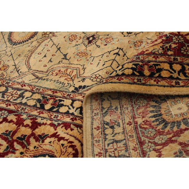 Tan Classic Hand-Knotted Rug For Sale - Image 8 of 9