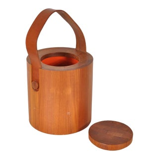 1960s Teak Ice Bucket by Jens H. Quistgaard for Nissen, Denmark
