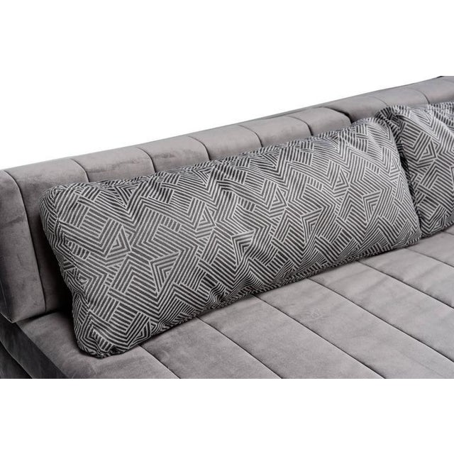 Textile Mid Century Modern Daybed Sectional For Sale - Image 7 of 7