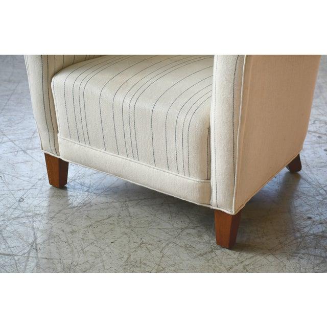 Art Deco Fritz Hansen Attributed Model 1669 Style Easy Chair, Denmark, 1940s For Sale - Image 3 of 9