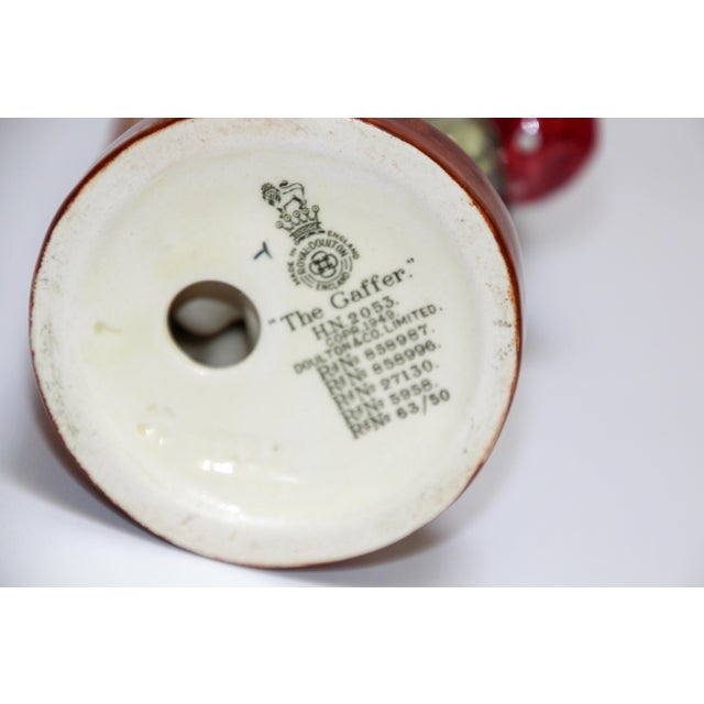 """Black Royal Doulton """"The Gaffer"""" British Porcelain Figurine For Sale - Image 8 of 9"""
