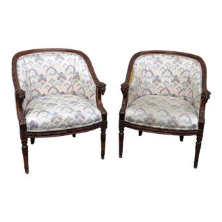 Regency Style Club Chairs - a Pair For Sale