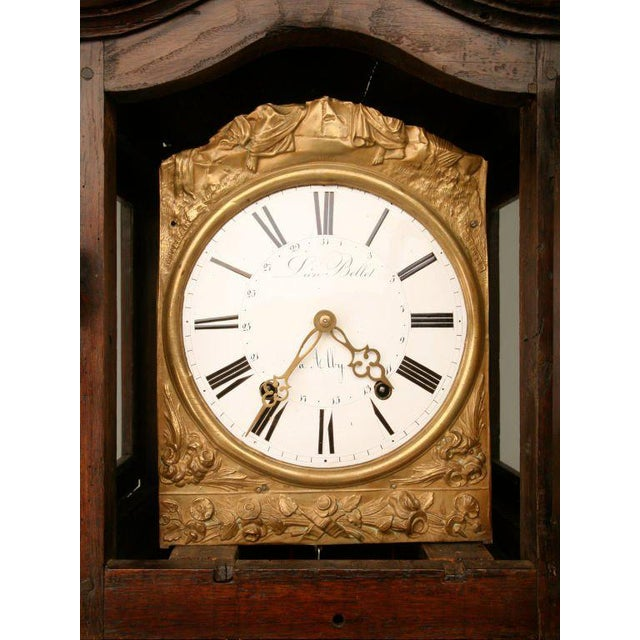 C1820 French Antique Tall Case Clock For Sale - Image 4 of 10