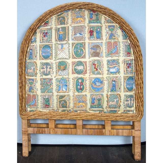 Pair of Arched Wicker/Rattan Twin Size Headboards For Sale - Image 11 of 13