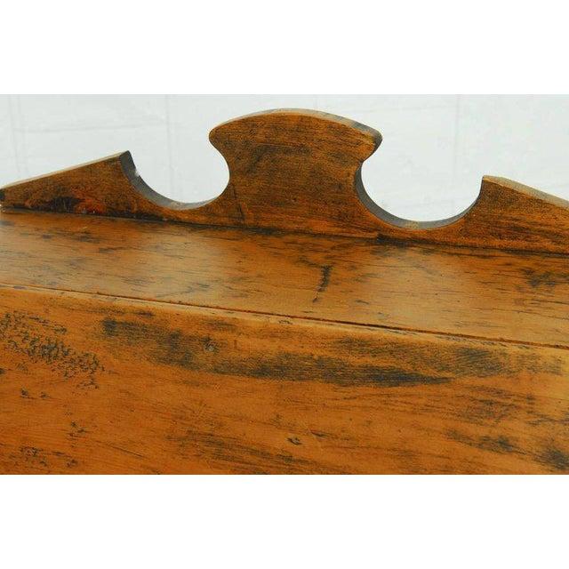 19th Century Diminutive Pine Slant Front Desk For Sale - Image 4 of 11