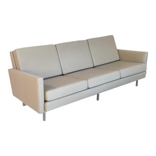"""Mid-Century Modern Modernica Taupe Fabric """"Case Study Couch"""""""