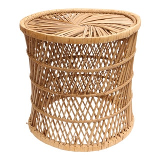 Vintage Rattan and Wicker Stool/Plant Stand
