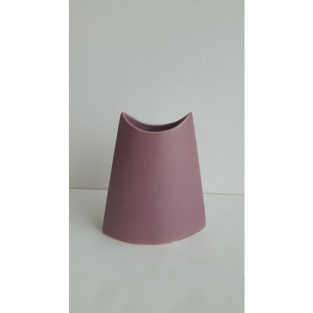 """Small mauve pink ceramic pottery vase vessel Stamped, """"James Johnston 1981"""" on the bottom In immaculate condition! Perfect..."""