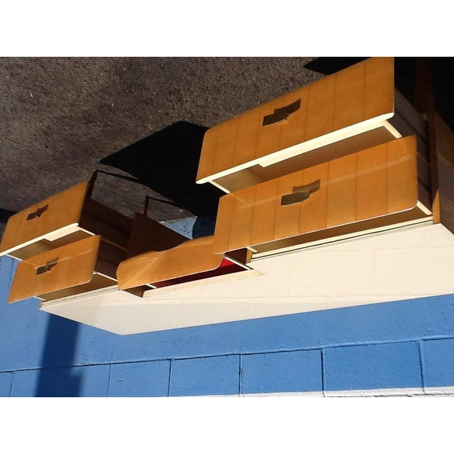 Mid-Century Modern 1950s Pier Luigi Colli Vintage Italian Design Ashwood Desk For Sale - Image 3 of 8