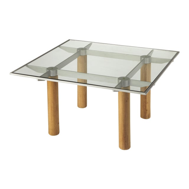Butler Specialty Cirrus Glass & Metal Coffee Table For Sale