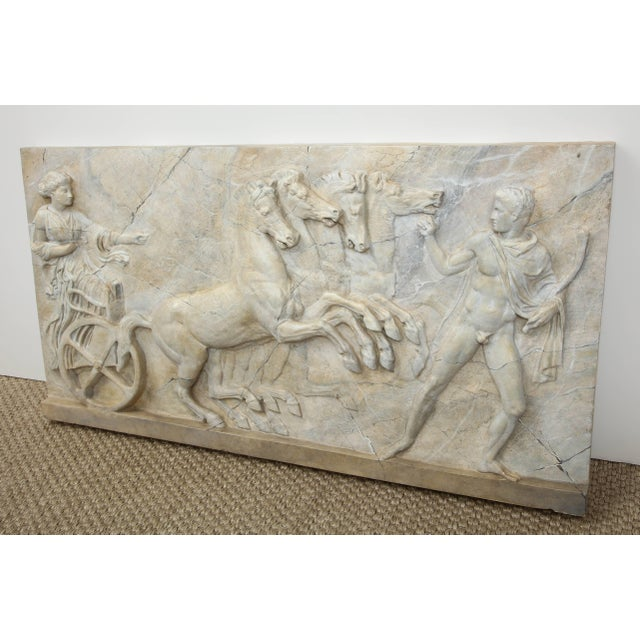 White Neoclassical Plaster Panel For Sale - Image 8 of 9