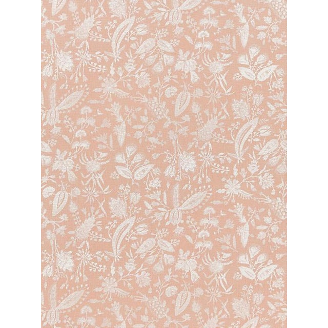 Transitional Scalamandre Tulia Linen Print, Blush Fabric For Sale - Image 3 of 3