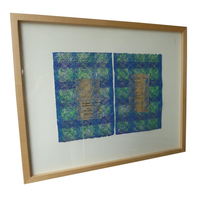 Contemporary Abstract Newspaper Print For Sale