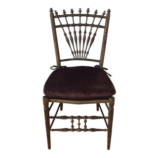 1800s Antique Bobbin Turned Spindle Chair For Sale