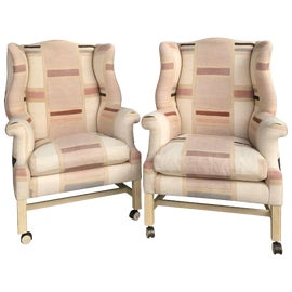 Image of Pink Wingback Chairs