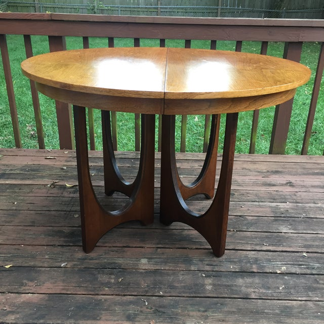 Broyhill Brasilia Dining Table with One Leaf For Sale - Image 11 of 11