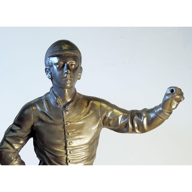 Vintage Brushed Steel Jockey Figurine For Sale In San Francisco - Image 6 of 7
