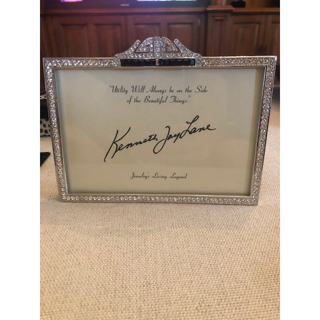 Kenneth Jay Lane Deco Crystal Picture Frame For Sale In West Palm - Image 6 of 6