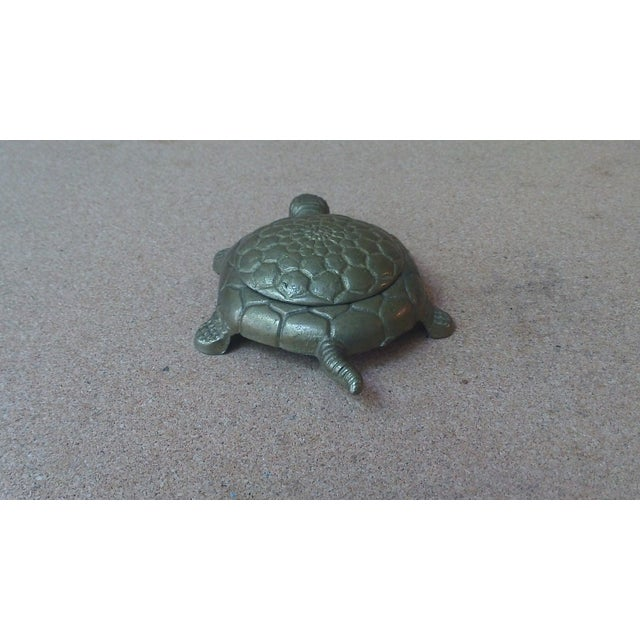 Vintage Brass Turtle Lidded Trinket Box - Image 4 of 7