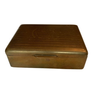 Vintage Brass Box For Sale