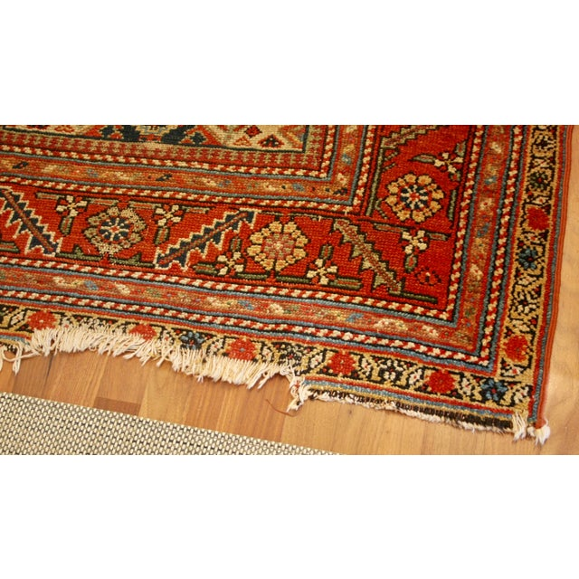 "Long Vintage Hand-Knotted Wool Rug - 13′5″ X 3'8"" - Image 7 of 11"