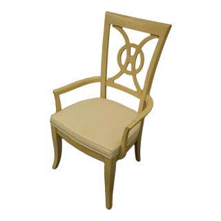 Late 20th Century Stanley Furniture Concentrics Collection White Washed Splat Back Chair For Sale