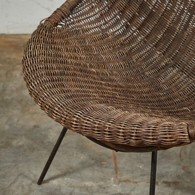 Mid-Century Bamboo and Rattan Chairs From France - a Pair For Sale - Image 11 of 11