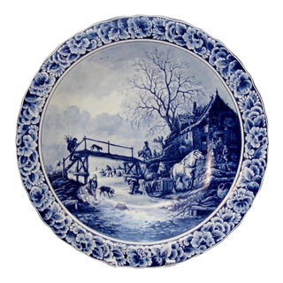 Vintage Delft Wall Plate For Sale