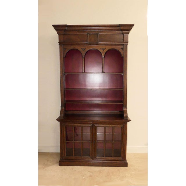 Traditional Hekman Display Cabinet Bookcase Hutch For Sale - Image 3 of 13