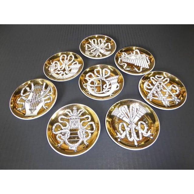 Atelier Fornasetti 1950s Piero Fornasetti Musicalia Coasters - Set of 8 For Sale - Image 4 of 9