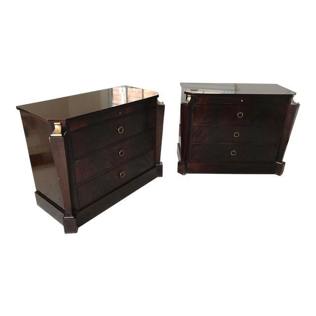 Thomas Pheasant Empire Chest / End Tables - A Pair For Sale