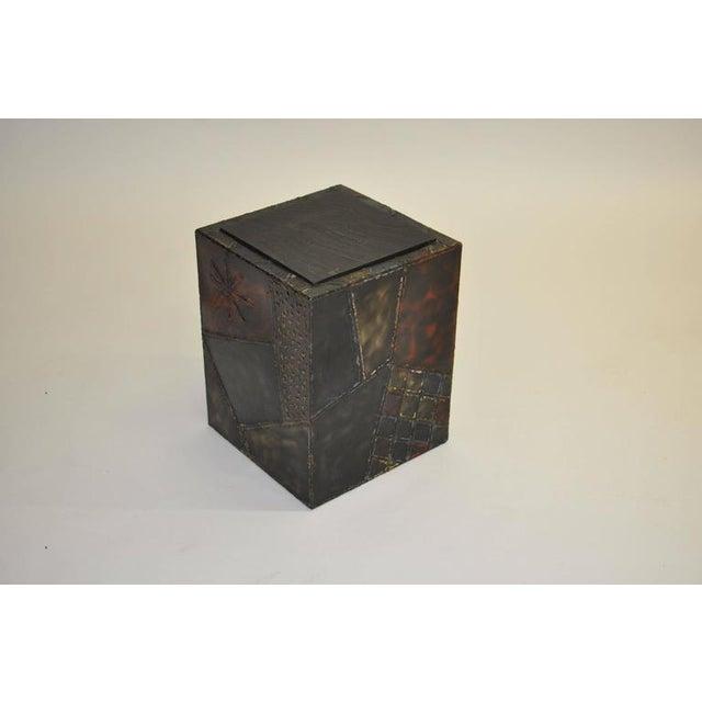 Paul Evans Paul Evans Welded Steel Cube Table For Sale - Image 4 of 8