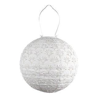 Soji Stella Outdoor Solar Deco Globe Lantern in White For Sale