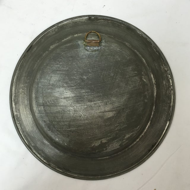 Copper Antique Persian Etched Tinned Copper Plate For Sale - Image 8 of 8