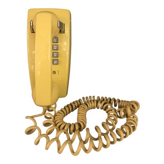 Mid Century Yellow Wall Dial Phone For Sale