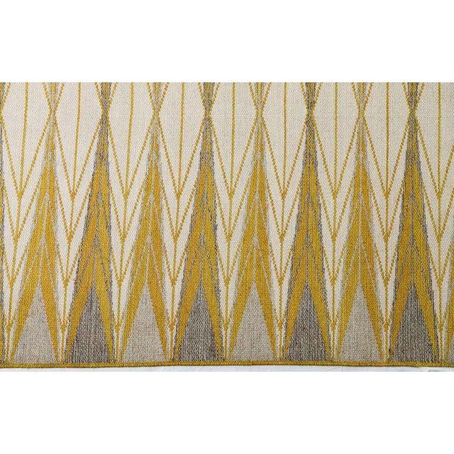 "Vintage Ingrid Dessau ""Sylarna"" Flat-Weave Swedish Carpet - Image 4 of 7"