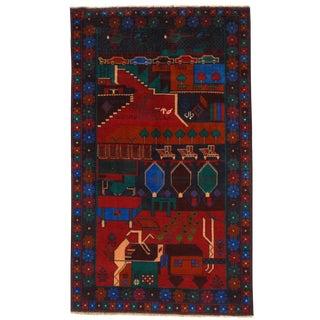 """Pasargad N Y Afghan Baluch Rug - 3'1"""" X 5'2"""" For Sale"""