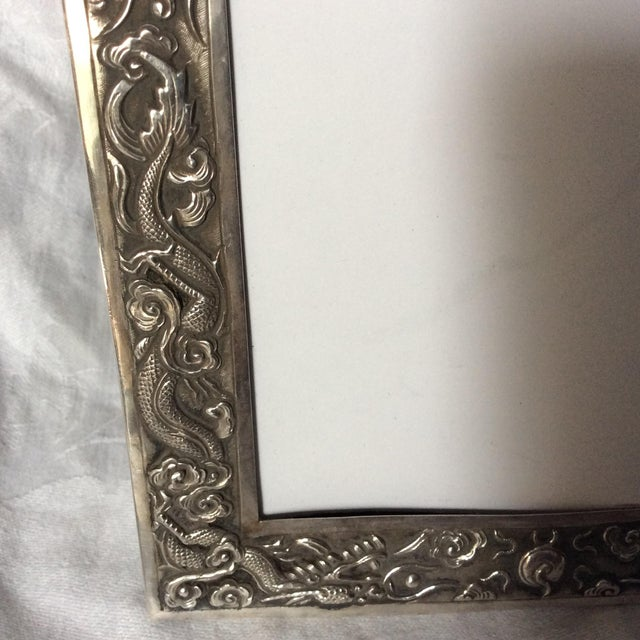 Antique Chinese Export Sterling Silver Frame For Sale In San Francisco - Image 6 of 7