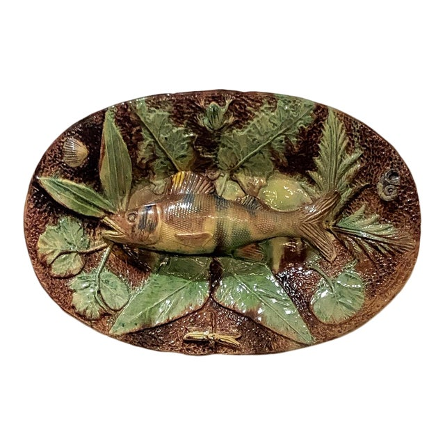 Palissy Plate, France Circa 1880 For Sale