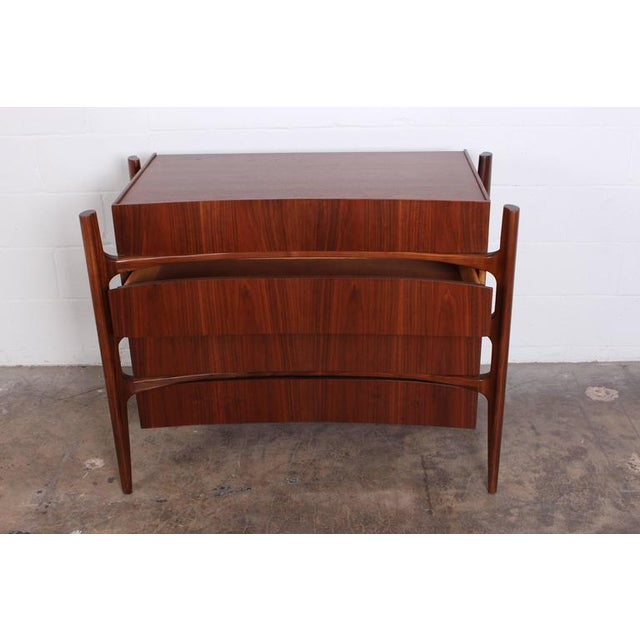 Walnut Curved Front Dresser Designed by William Hinn - Image 6 of 10