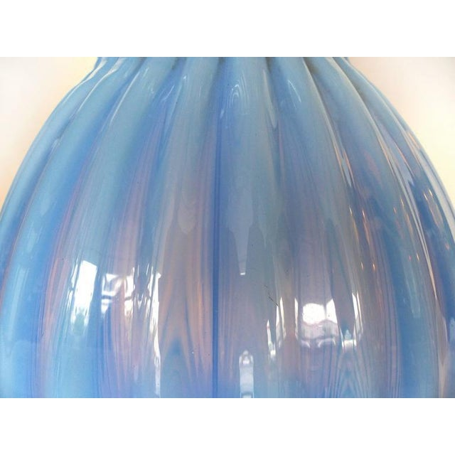 1950s Mid-Century Modern Blue Murano Glass Table Lamp by Marbro For Sale - Image 5 of 9
