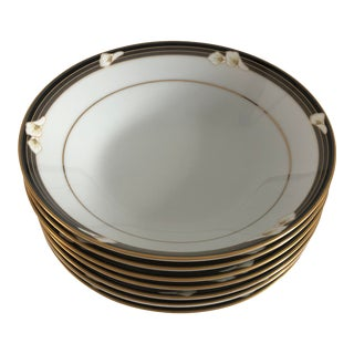 1980's Noritake Ellington Set of 7 Lily Design Soup Bowls For Sale