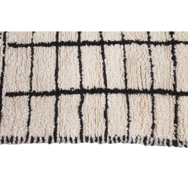 Black Period Moroccan Beni Ourain Rug For Sale - Image 8 of 11