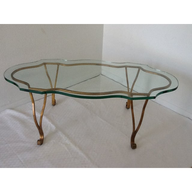Vintage Iron Gold-Leaf Coffee Table - Image 5 of 5