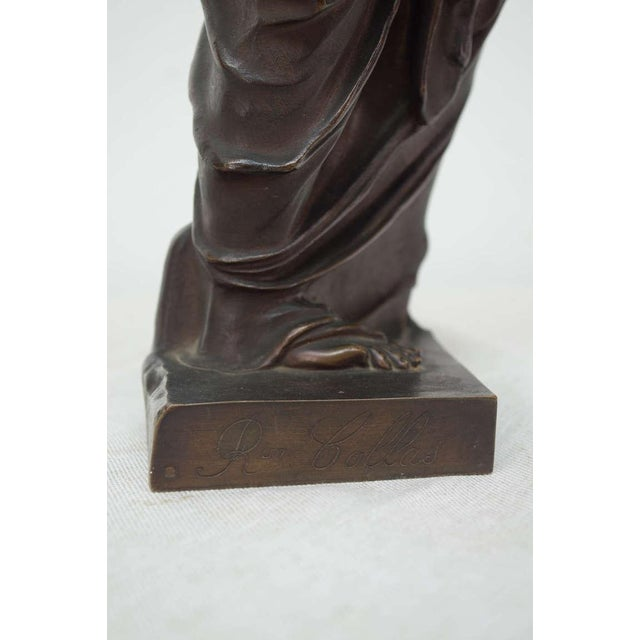 Brown Late 19th Century French Bronze Signed Collas, Musee Du Louvre For Sale - Image 8 of 11