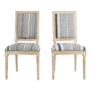 French Louis XVI Style Side Chairs - a Pair For Sale