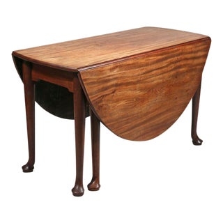 George II Oval Mahogany Drop-leaf Table